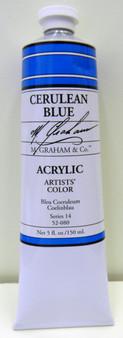 M. Graham Acrylic 5 oz Tube Cerulean Blue