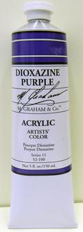 M. Graham Acrylic 5 oz Tube Dioxazine Purple