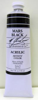 M. Graham Acrylic 5 oz Tube Mars Black