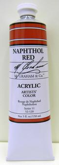 M. Graham Acrylic 5 oz Tube Naphthol Red
