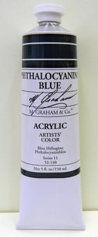 M. Graham Acrylic 5 oz Tube Phthalo Blue