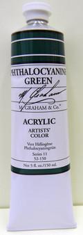 M. Graham Acrylic 5 oz Tube Phthalo Green