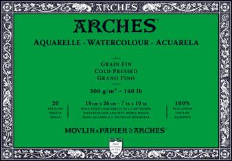 Arches Watercolor Block 140lb Cold Press 7x10