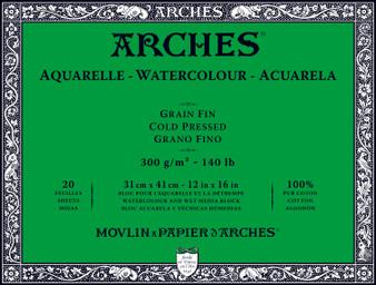 Arches Watercolor Block 140lb Cold Press 12x16