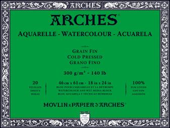 Arches Watercolor Block 140lb Cold Press 18x24