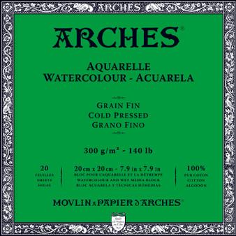 Arches Watercolor Block 140lb Cold Press 7.9x7.9
