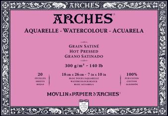 Arches Watercolor Block 140lb Hot Press 7x10