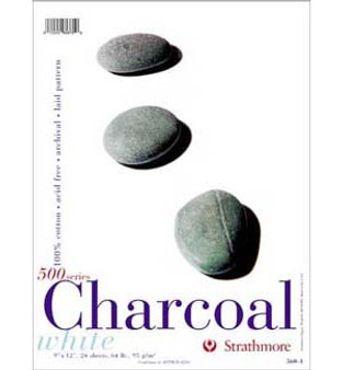Strathmore Charcoal Pad White 12x18