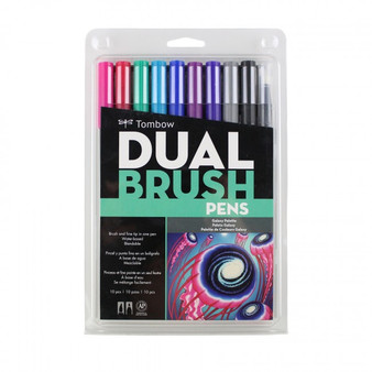 Tombow Dual Brush Marker 10 Set Galaxy
