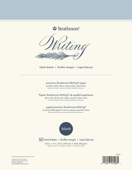 Strathmore Writing Series Blank Pad 8.5x11