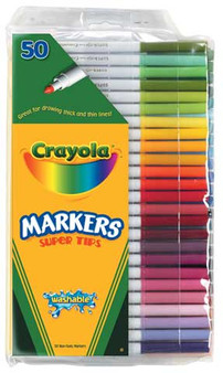 Crayola Washable Fine Super Tip Markers Set of 50 Colors