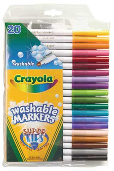 Crayola Washable Fine Super Tip Markers Set of 20 Colors