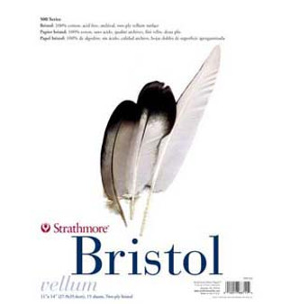 Strathmore Bristol Pad 500 Vellum 2ply 11x14