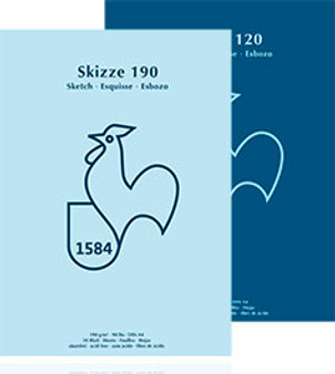 "Hahnemuhle Skizze Sketchbook 120G 6x8"" Tape Bound"