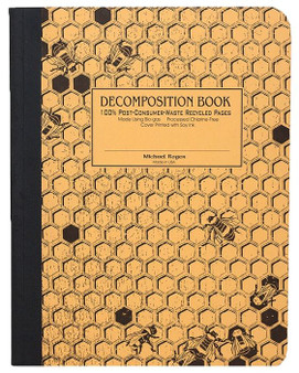 Michael Roger Press Decomposition Ruled Notebook Honeycomb