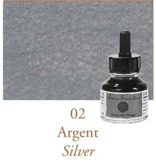 Sennelier Drawing Ink 30ml Silver