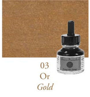 Sennelier Drawing Ink 30ml Gold