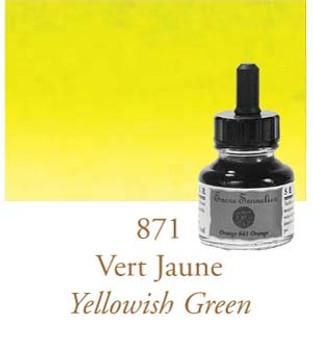 Sennelier Drawing Ink 30ml Yellowish Green