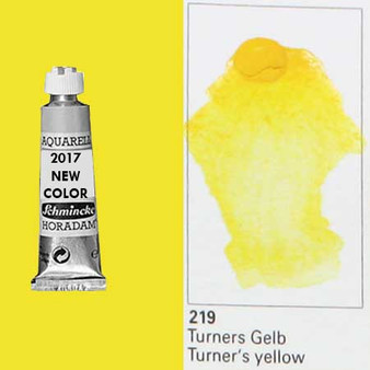 Schmincke Horadam Aquarell 15ml Tube Watercolor Turner's Yellow - 219