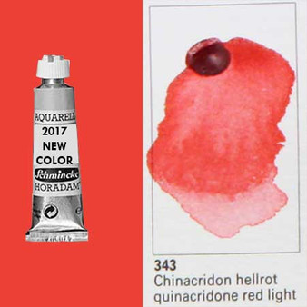 Schmincke Horadam Aquarell 15ml Tube Watercolor Quinacridone Red Light - 343