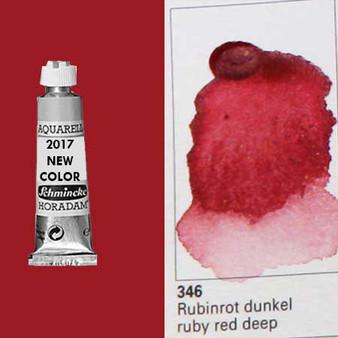 Schmincke Horadam Aquarell 15ml Tube Watercolor Ruby Red Deep - 346
