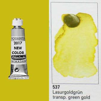 Schmincke Horadam Aquarell 15ml Tube Watercolor Transparent Green Gold - 537