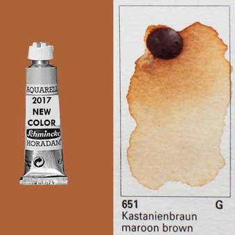 Schmincke Horadam Aquarell 15ml Tube Watercolor Maroon Brown - 651