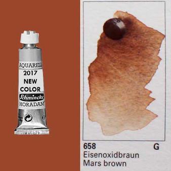 Schmincke Horadam Aquarell 15ml Tube Watercolor Mars Brown - 658