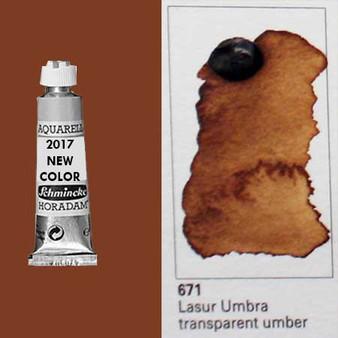 Schmincke Horadam Aquarell 15ml Tube Watercolor Transparent Umber - 671