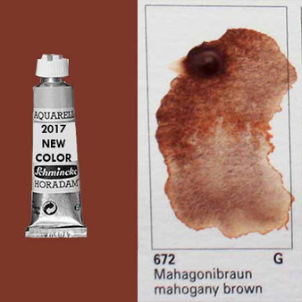 Schmincke Horadam Aquarell 15ml Tube Watercolor Mahogany Brown - 720