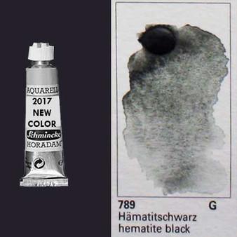 Schmincke Horadam Aquarell 15ml Tube Watercolor Hematite Black - 789