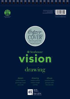 "Strathmore Vision Drawing Pad 65 Sheets 11x14"""