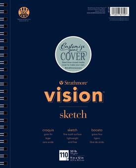 "Strathmore Vision Sketch Pad 110 Sheets 11x14"""