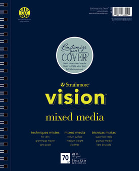 Strathmore Vision Strathmore Vision Mixed Media 70 Sheet Pad 9x12""
