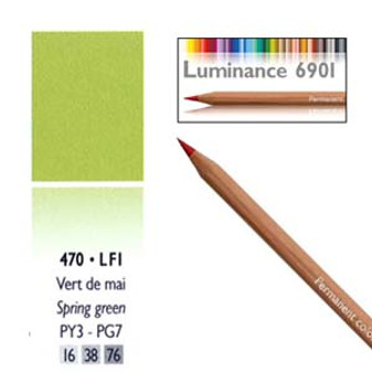 Caran DAche Luminance Colored Pencil Spring Green