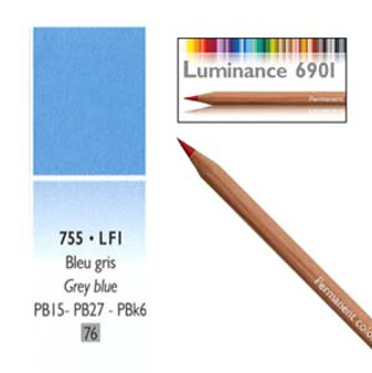 Caran DAche Luminance Colored Pencil Grey Blue