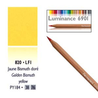 Caran DAche Luminance Colored Pencil Gold Bismuth Yellow