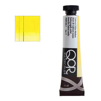 QoR Watercolor 11ml tube Cadmium Yellow Medium
