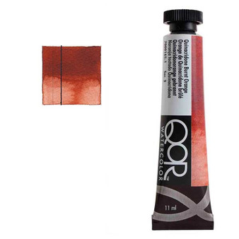 QoR Watercolor 11ml tube Quinacridone Burnt Orange