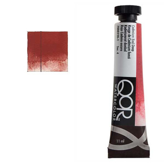 QoR Watercolor 11ml tube Cadmium Red Deep