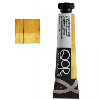 QoR Watercolor 11ml tube Transparent Yellow Oxide