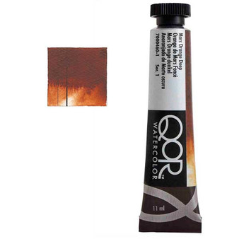 QoR Watercolor 11ml tube Mars Orange Deep