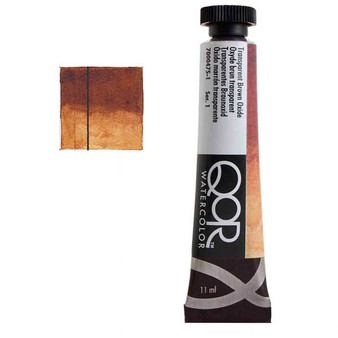 QoR Watercolor 11ml tube Transparent Brown Oxide