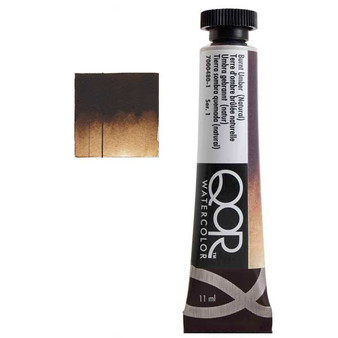 QoR Watercolor 11ml tube Burnt Umber (Natural)