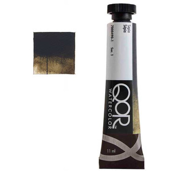 QoR Watercolor 11ml tube Sepia