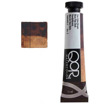 QoR Watercolor 11ml tube VanDyke Brown