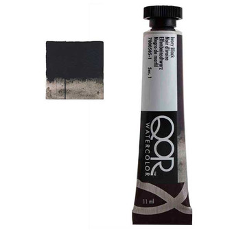 QoR Watercolor 11ml tube Ivory Black