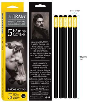 Nitram Batons Moyens Soft Round 8mm