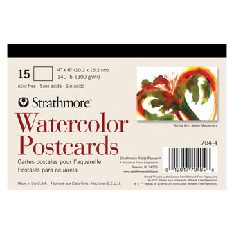 Strathmore Watercolor Postcards 15-Card Pad