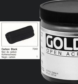 Golden Open Acrylic 8oz Carbon Black